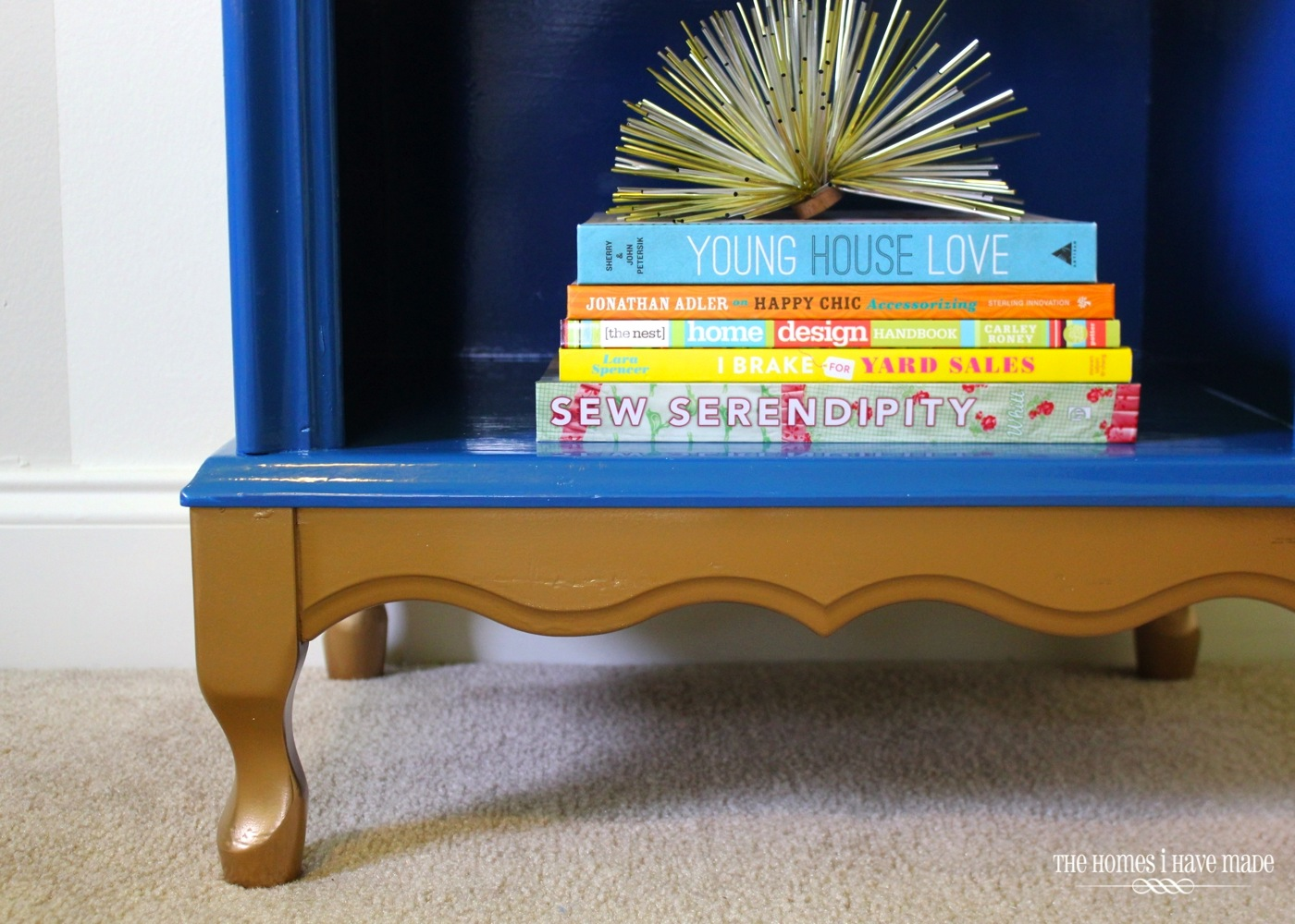 Blue and Gold Nightstand-007
