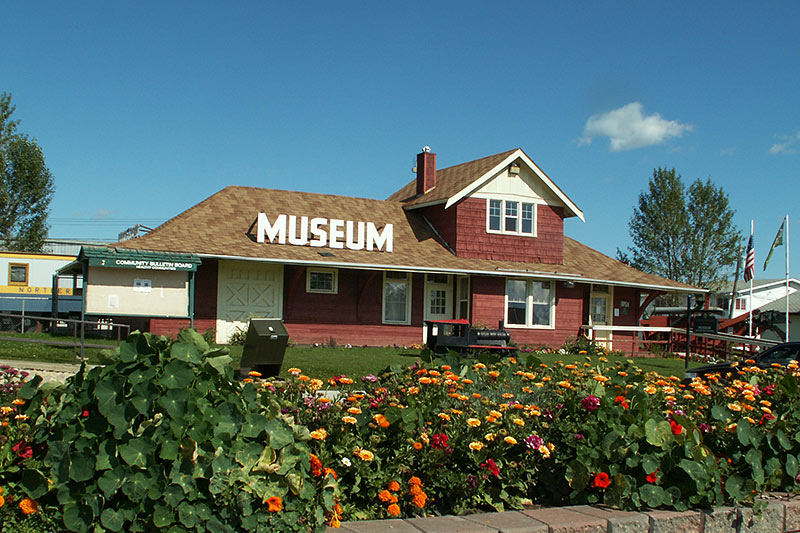 Pouce Coupe Museum, Pouce Coupe, Alaska Highway 97, Northern British Columbia, Canada. Photo: Village of Pouce Coupe.
