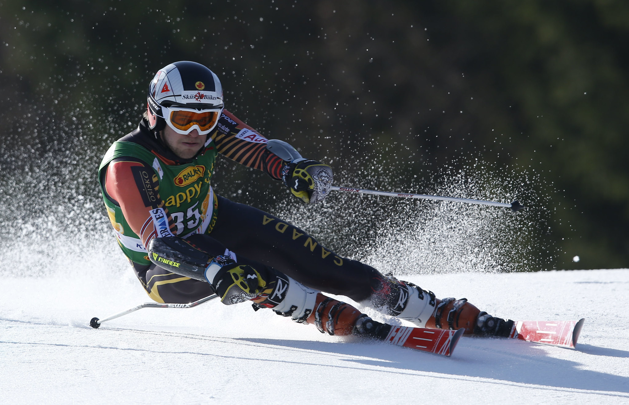 Philip Brown in action in Kranjska Gora, SLO during the giant slalom