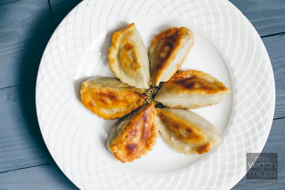 Vegan Mushroom Cabbage Pierogi