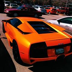 auto show(0.0), lamborghini diablo(0.0), automobile(1.0), lamborghini(1.0), wheel(1.0), vehicle(1.0), performance car(1.0), automotive design(1.0), lamborghini(1.0), land vehicle(1.0), lamborghini murciã©lago(1.0), supercar(1.0), sports car(1.0),