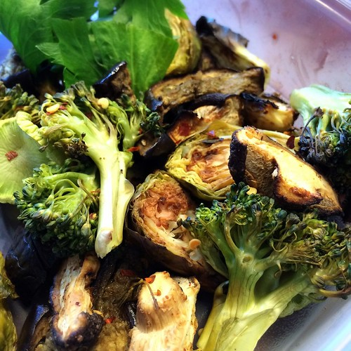 Roasted veggies in coconut oil
