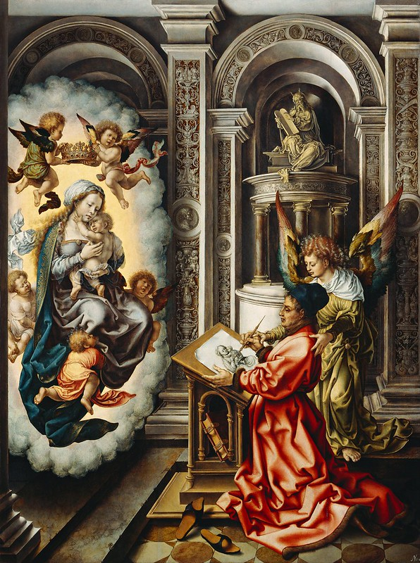 Jan Gossaert - St. Luke Painting the Madonna (c.1515)