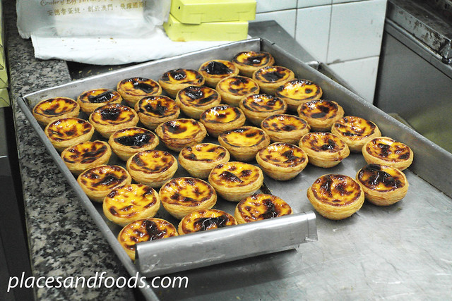 lord stow bakery egg tarts on tray
