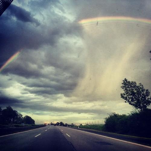 Amazing #sky #natur #naturschauspiel #regenbogen #rainbow #erfurt #nohra #fotoseven #seven