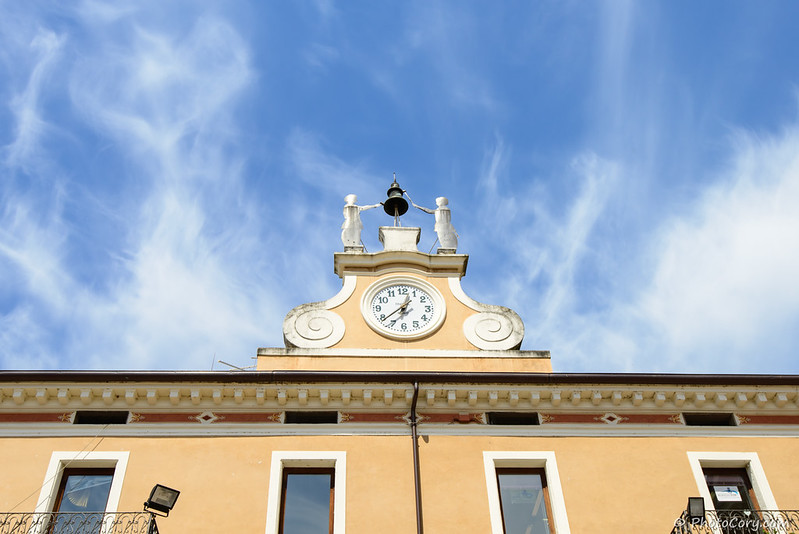Clock in Bardolino, Italy