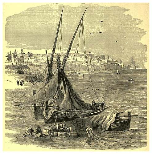 004-Jaffa desde el Norte-Van Wert's travels in Asia and Africa-1884