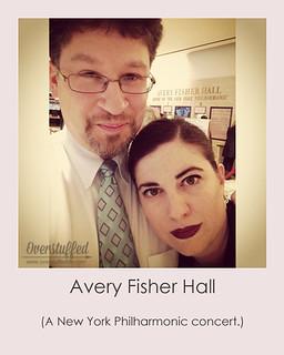 NYC Selfie Avery Fisher Hall