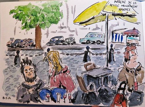 Terrasse près du marché. Nantes (France)