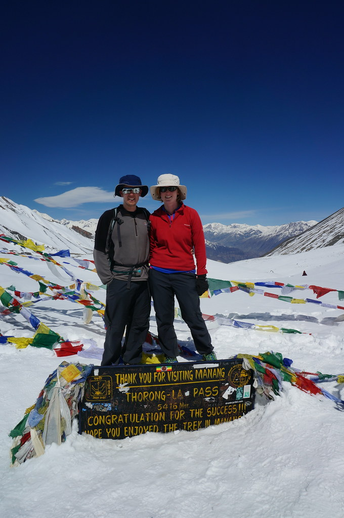 Andrew & Annemarie at the Thorong La Pass Summit