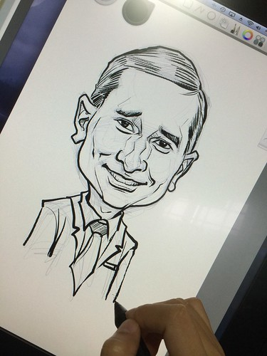 Minister Vivian Balakrishnan digital caricature for EO Singapore