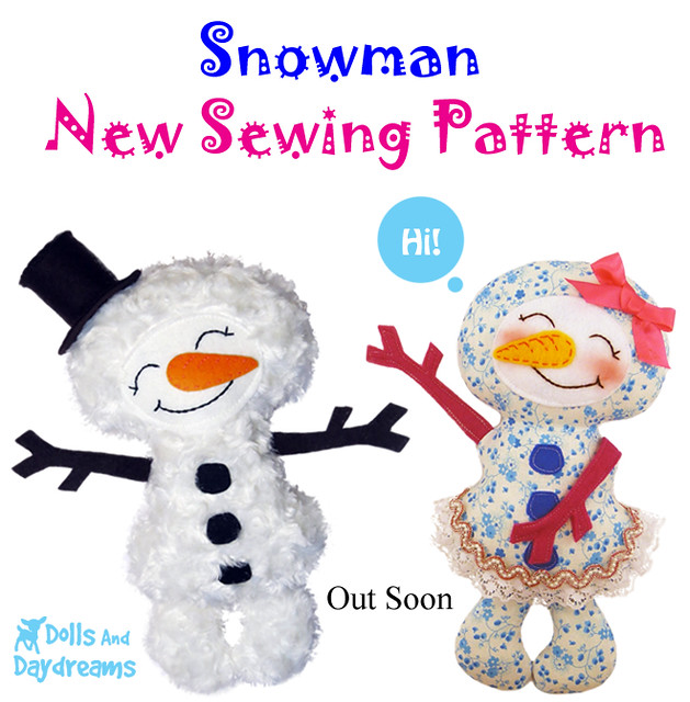 Snowman sewing pattern out soon!