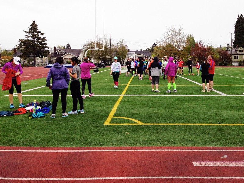 First track session with the training group!