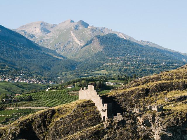 Montes alpinos desde Sion