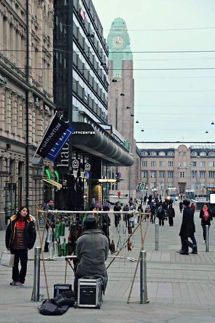 Street musician in Helsinki