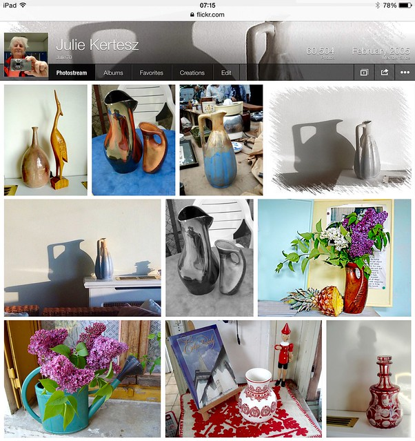 Different vases, potteries, each with its own story.