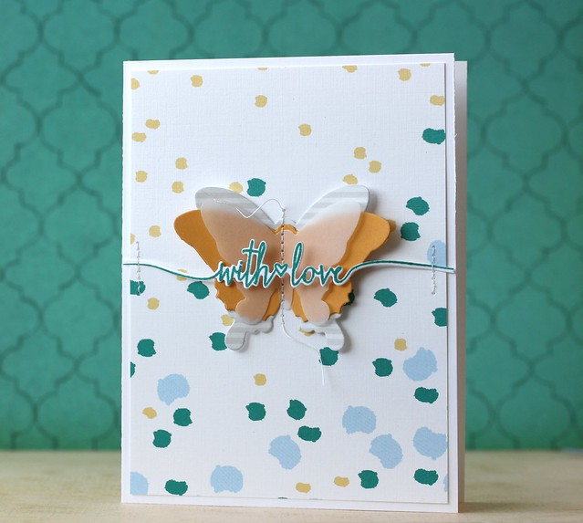 PTI-Swoosh dies & Beautiful Butterflies Layers dies