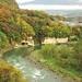 小諸大橋から見る秋の大杭千曲川