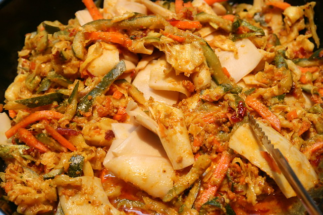 Achar with topshell slices