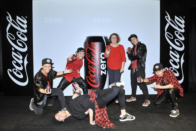 The Coca-Cola Company's General Manager Of Malaysia-Singapore-Brunei Region Ms. Gill Mclaren At The Launch Of Coca-Cola Zero Today