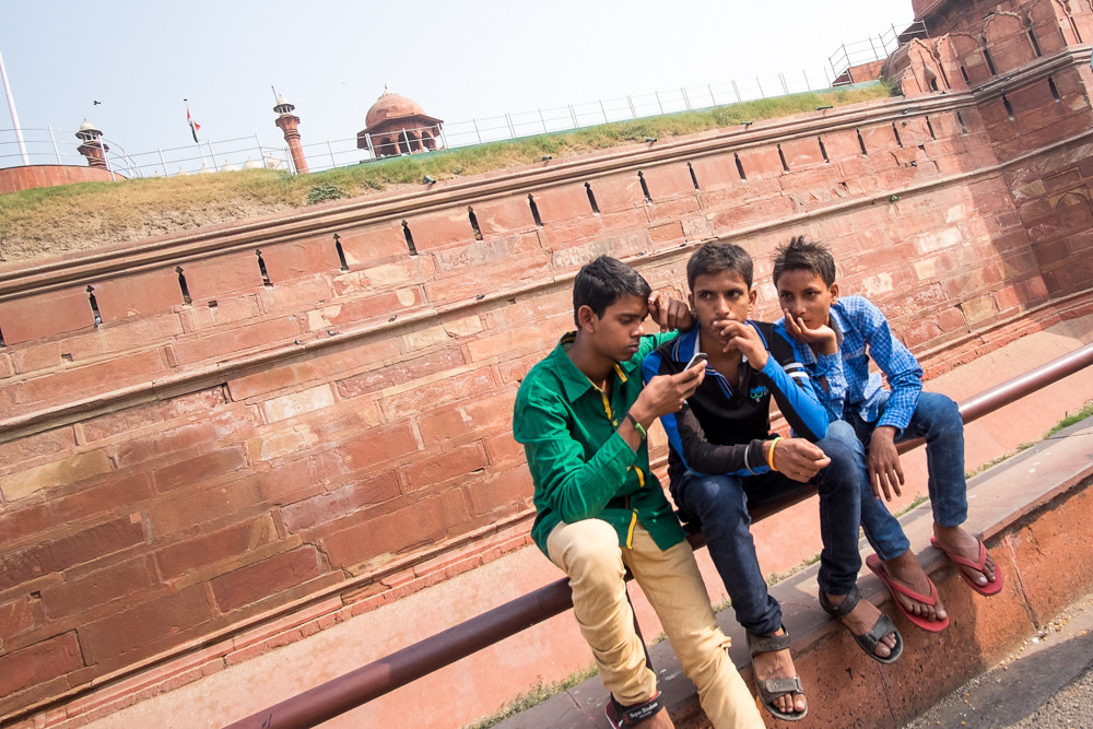 Resting at Red Fort
