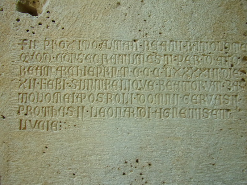 Medieval inscription, Jupiter's Temple