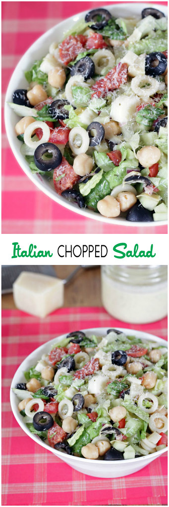 Italian Chopped Salad | All the Italian flavors you love packed into one hearty, delicious salad! cinnamonspiceandeverythingnice.com