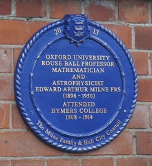 Photo of Edward Arthur Milne blue plaque