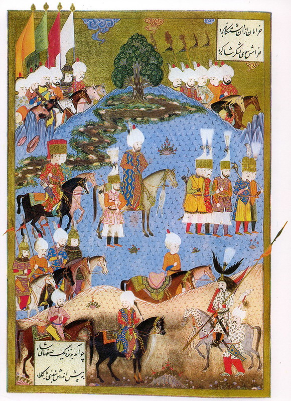 Suleiman the Magnificent marching with army in Nakhichevan
