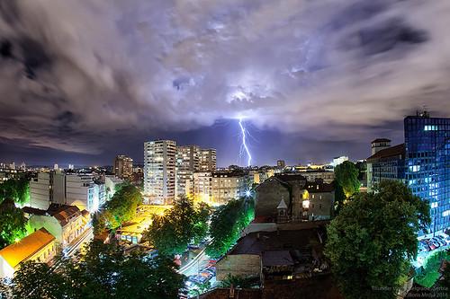 city longexposure light sky storm night clouds landscape cityscape market serbia stormy citylights lightning belgrade beograd thunder noc oluja srbija munja pijaca munje nocna nocne tasmajdan nocu