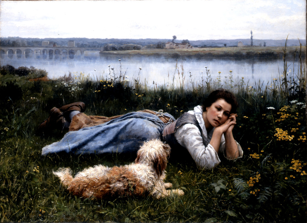 Reverie by Daniel Ridgway Knight, 1866