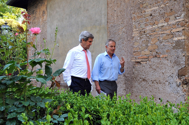 Secretary Kerry and Quartet Representative Blair Discuss Middle East Peace
