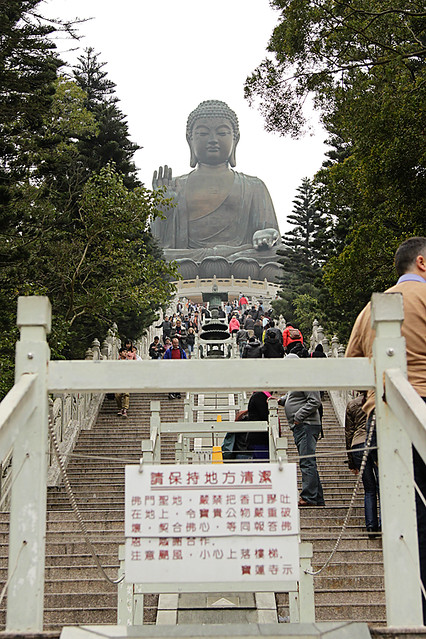 The Tian Tan Buddha at the Po Lin Monastery in Hong Kong