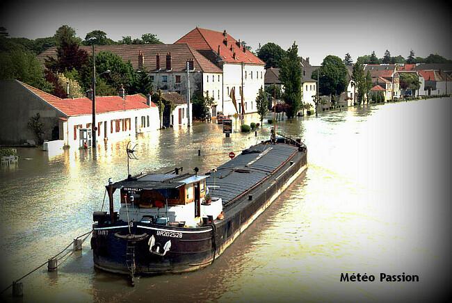 crue de la Saône et inondations fin mai 1983 météopassion