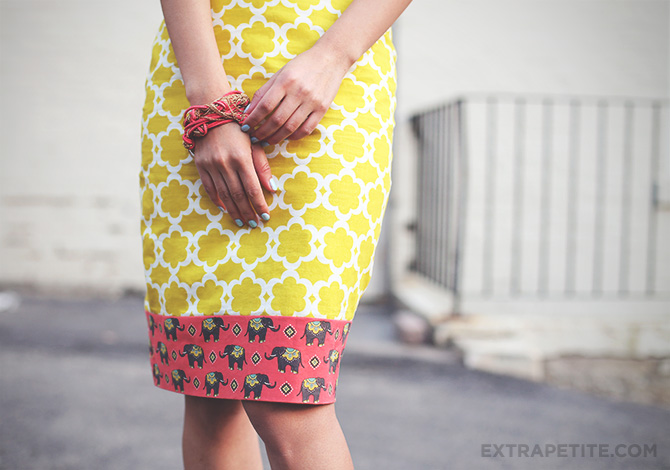 lime elephant skirt DIY