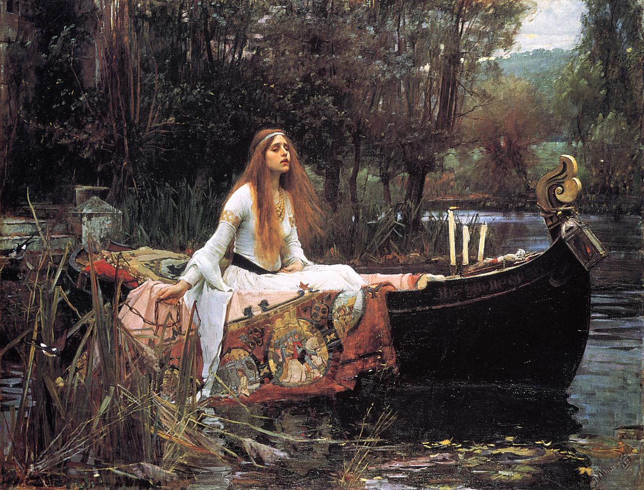 The Lady of Shallot. Obra de John William Waterhouse. 1888
