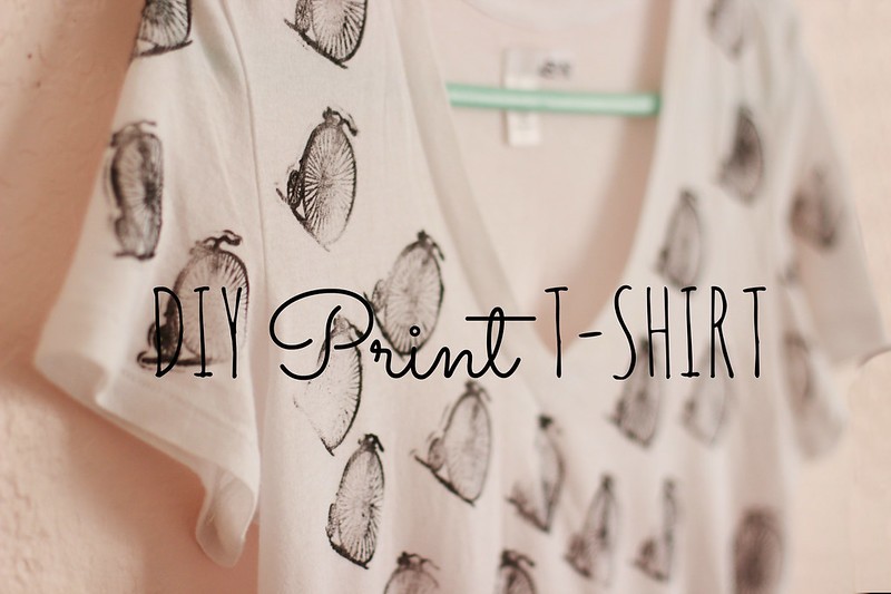 Diy Rubber Stamp Print T-Shirt | Into The Woods