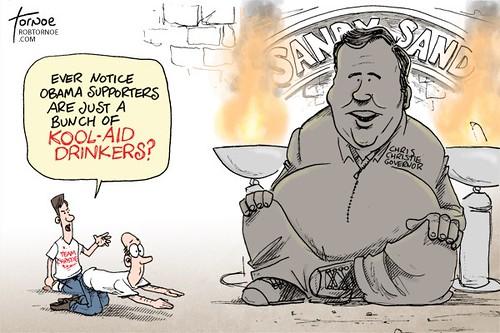 Rob Tornoe cartoon: Chris Christie: Stronger since the storm