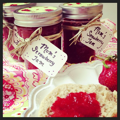 Homemade, lower-sugar strawberry jam