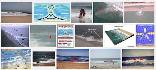 Google搜尋「rip current」圖片
