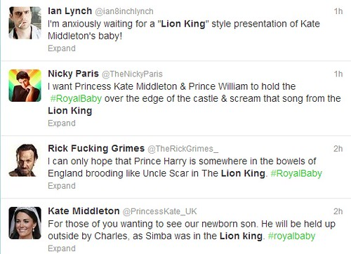 More Lion King tweets.