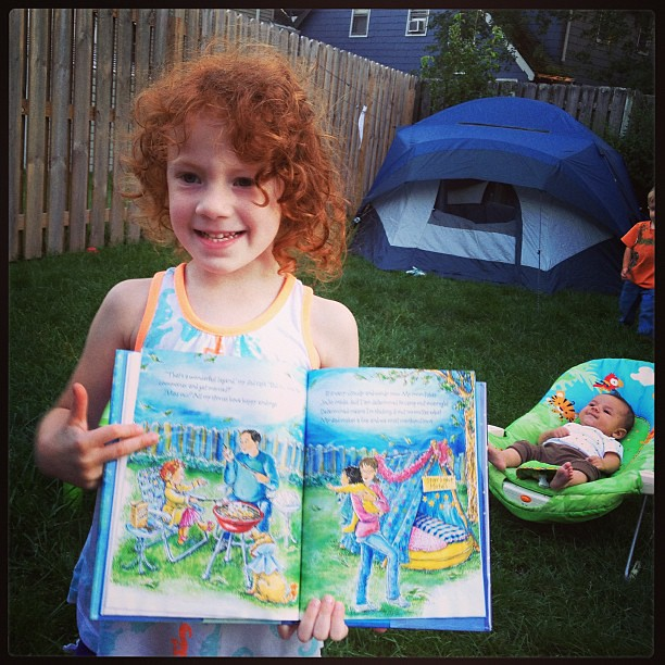 Fancy Nancy inspired backyard campout take 2.  Hopefully it won't rain this time! #summer #outside #camping