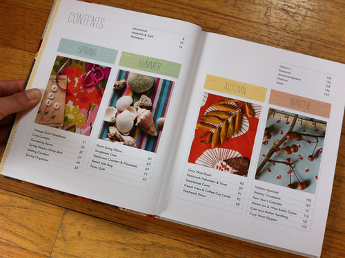 Sewing For All Seasons table of contents
