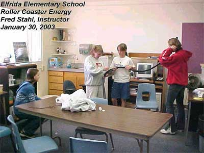 Elfrida Elementary School, Roller Coaster Energy, Fred Stahl (Instructor), January 30, 2003