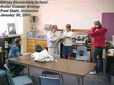 Elfrida Elementary School, Roller Coaster Energy, Fred Stahl (Instructor), January 30, 2003