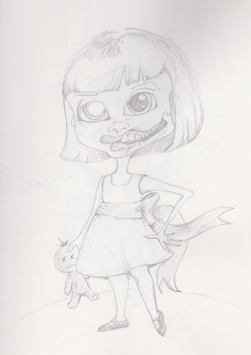 Drawings Zombie girl by wickeddollz