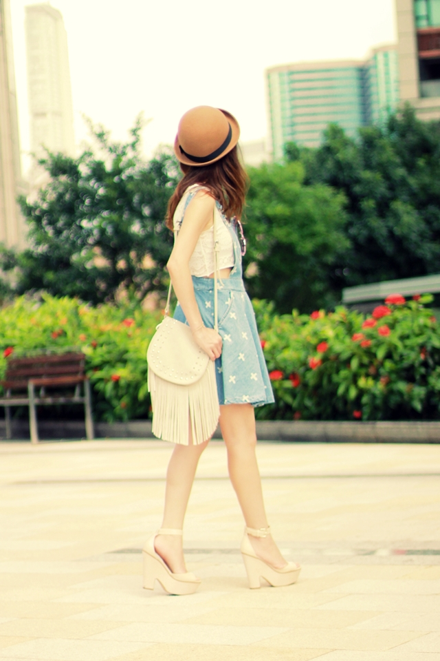 Pinafore + Cropped Top