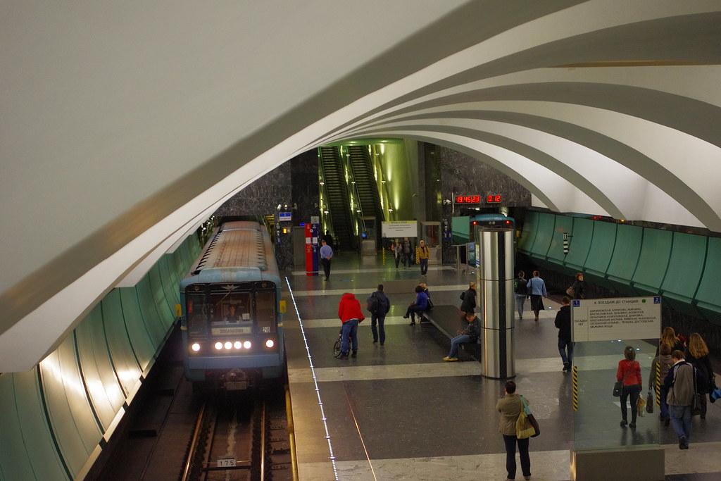 Moscow metro Zyablikovo 2013