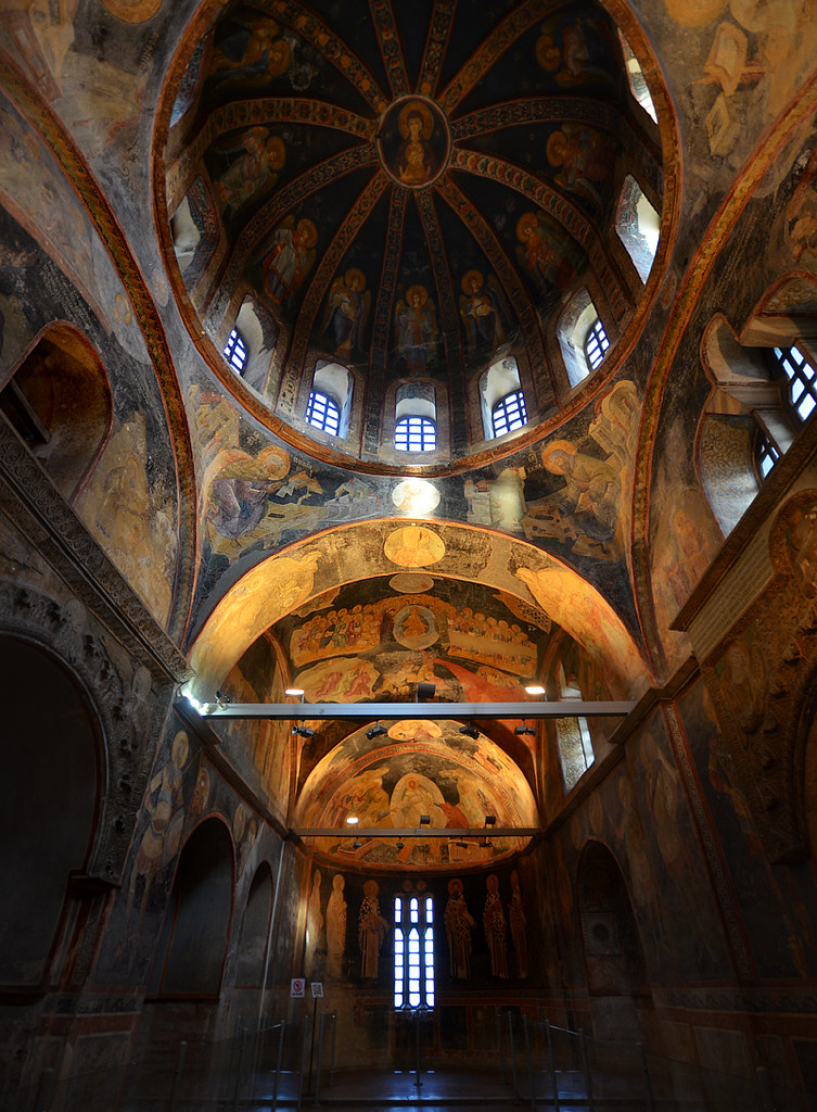 Interior de la iglesia de Salvador en Chora Estambul