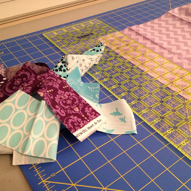 What do you do when you don't have enough scraps in the right colors? Make them!